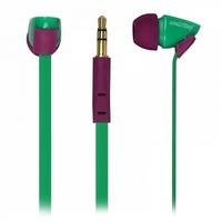 Наушники Smart Buy TECHNA, вакуумные, плоский кабель, зелен/пурпурные (SBE-7230)