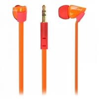Наушники Smart Buy TECHNA, вакуумные, плоский кабель, красн/оранжевые (SBE-7240)