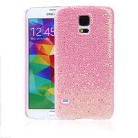 Чехол-накладка Samsung S2 пластик, блест, розовый