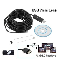 Камера эндоскоп microUSB/USB, 7мм, 3м, 640*480, IP67, с подсветкой