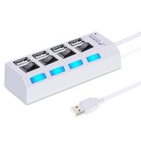 USB-хаб 2.0, Smart Buy SBHA-7204-W, 4 порта, с выключателем портов, белый