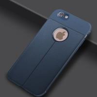 Чехол-накладка на Apple iPhone X/Xs, силикон, под кожу, YOYIC, синий