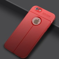 Чехол-накладка на Apple iPhone 6/6S, силикон, под кожу, YOYIC, красный