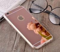 Чехол-накладка на Apple iPhone 6/6S Plus, силикон, зеркальный, розовый