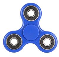 Спиннер, 3 спиц, 4 подш., металл, 7.5*7.5 см, синий, черный