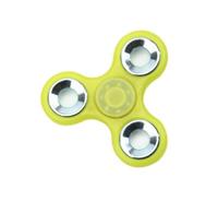 Спиннер, 3 спиц, 1 подш., металл, 7.5*7.5 см, фосфорный, желтый