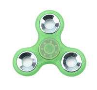 Спиннер, 3 спиц, 1 подш., металл, 7.5*7.5 см, фосфорный, зеленый