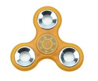 Спиннер, 3 спиц, 1 подш., металл, 7.5*7.5 см, фосфорный, оранжевый