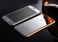 Цветное защитное стекло для Apple iPhone 6/6S комплект, серебристый