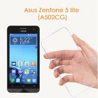Чехол-накладка для Asus Zenfone 5 lite (A502CG) силикон, ультратонкий, прозрачный