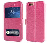 Чехол-книжка на Apple iPhone 6/6S, полиуретан, SView, магн, ярко-розовый