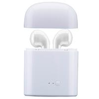 Наушники с микрофоном, TWS i7S, Bluetooth, микрофон,  jack 3,5мм, в боксе аккумуляторе, белый