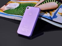 Чехол-накладка на Apple iPhone 4/4S, пластик, тонкий, матовый, фиолетовый