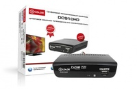 ТВ ресивер, цифровой DVB-T2, D-Color DC910HD, HDMI, RCA, HD плеер