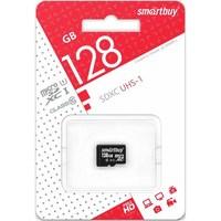Карта памяти MicroSDHC 128GB Smart Buy, Class 10 (без SD-адаптера)