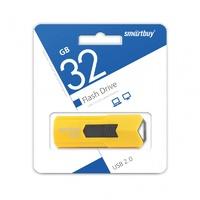 Память USB 2.0 Flash, 32GB, Smart Buy Stream Yellow