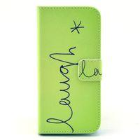 Чехол-книжка на Apple iPhone 6/6S, полиуретан, рис, зеленый