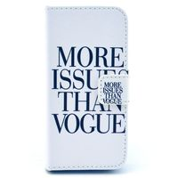 Чехол-книжка на Apple iPhone 5/5S, полиуретан, vogue, белый
