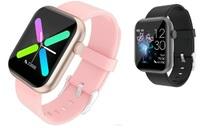 Фитнес-браслет P9, Bluetooth, IP67, шагомер, пульс, IPS 240*240, Android/iOS, золотисто-розовый