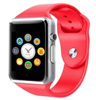Смарт-часы W8, microSim, 240*240 TFT, BT, 0,3Mp cam, microSD, красный