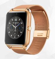 Смарт-часы GT08, microSim, 240*240 TFT, BT, 0,3Mp cam, microSD, железный ремешок, золотистый