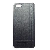 Чехол-накладка на Apple iPhone 5/5S, пластик, кожа, Chanel, черный