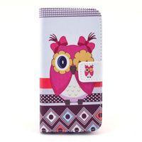 Чехол-книжка на Apple iPhone 4/4S, полиуретан, owl