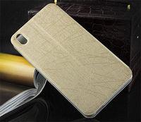 Чехол-книжка на HTC Desire 816 иск. кожа, золотистый