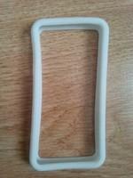 Бампер на Apple iPhone 4/4S, силикон, белый