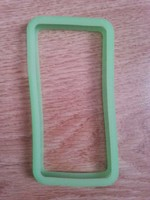 Бампер на Apple iPhone 4/4S, силикон, зеленый
