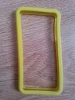 Бампер на Apple iPhone 4/4S, силикон, желтый
