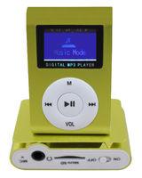 MP3-плеер с дисплеем, клипса, microSD, (без кабеля, без наушников), зеленый