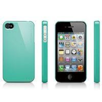 Чехол-накладка на Apple iPhone 4/4S, пластик, elago, бирюзовый