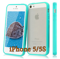 Чехол-накладка на Apple iPhone 5/5S, силикон, пластик, бампер, бирюзовый