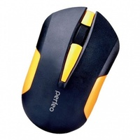 Мышь беспроводная, Perfeo SONATA, оптическая, 3кн, черно-желтый