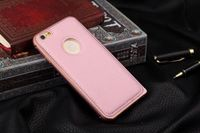 Чехол-накладка на Apple iPhone 6/6S, алюминий, кожа, розовый