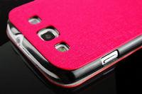 Чехол-книжка на Samsung S3 полиуретан, S-view, розовый