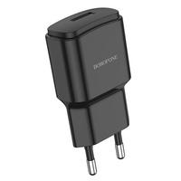 Сетевое зарядное устройство USB, Borofone BA48A Orion, 2.1A, 1xUSB, черный