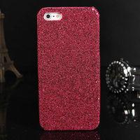 Чехол-накладка на Apple iPhone 4/4S, пластик, блестящий, розовый