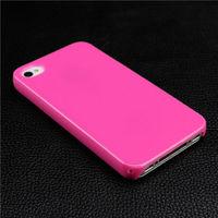 Чехол-накладка на Apple iPhone 4/4S, пластик, глянцевый, бледно-розовый