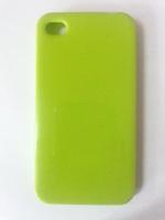 Чехол-накладка на Apple iPhone 4/4S, силикон, глянцевый, зеленый