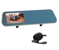 """Видеорегистратор с камерой заднего вида Орбита HAD-69, FHD, 4.3"""", зеркало заднего вида, retailbox"""