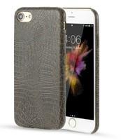 Чехол-накладка на Apple iPhone 7/8 Plus, силикон, кожа, крокодил, серый