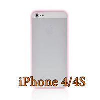 Чехол-накладка на Apple iPhone 4/4S, силикон, пластик, бампер, розовый