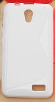 Чехол-накладка на Lenovo A319 силикон, S-line, белый