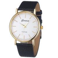 Часы наручные Geneva, ц.белый, р.черный, кожа Д01286