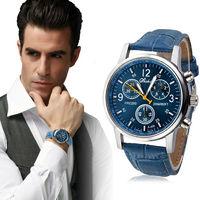 Часы наручные Shshd, ц.синий, р.синий, кожа Д01287
