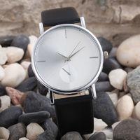 Часы наручные Noname, ц.белый, р.черный, кожа Д01289