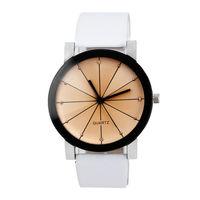 Часы наручные Noname, ц.коричневый, р.белый, кожа