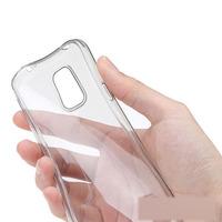 Чехол-накладка на Samsung S5 силикон, ультратонкий, прозрачный